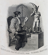 The School-Master.  Engraving 1813.