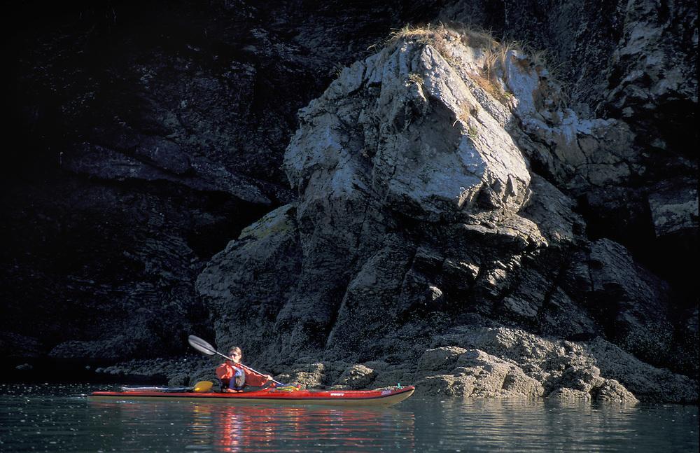 Sea Kajaking, China Poot Bay near Homer, Kachemak Bay Wilderness Lodge, Alaska, USA