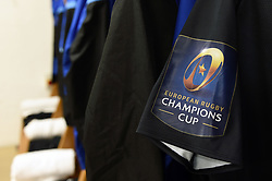A general view of Champions Cup branding on a Bath Rugby jersey - Mandatory byline: Patrick Khachfe/JMP - 07966 386802 - 09/12/2017 - RUGBY UNION - Stade Mayol - Toulon, France - Toulon v Bath Rugby - European Rugby Champions Cup