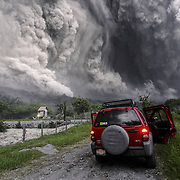 2015/07/10. Pyroclastic flow of Colima Volcano in Mexico, seen from La Yerbabuena, Comala.<br /> <br /> When you are in front of a Pyroclastic Flow of a volcano there are certain things you should know. First, you are living one of the most dangerous moments in your life. It's your choice to run or hide, or document the amazing power of nature. I chose to stay and take pictures. July 10, 2015, Pyroclastic Flow with my jeep 5.5 Miles away from Colima Volcano crater.