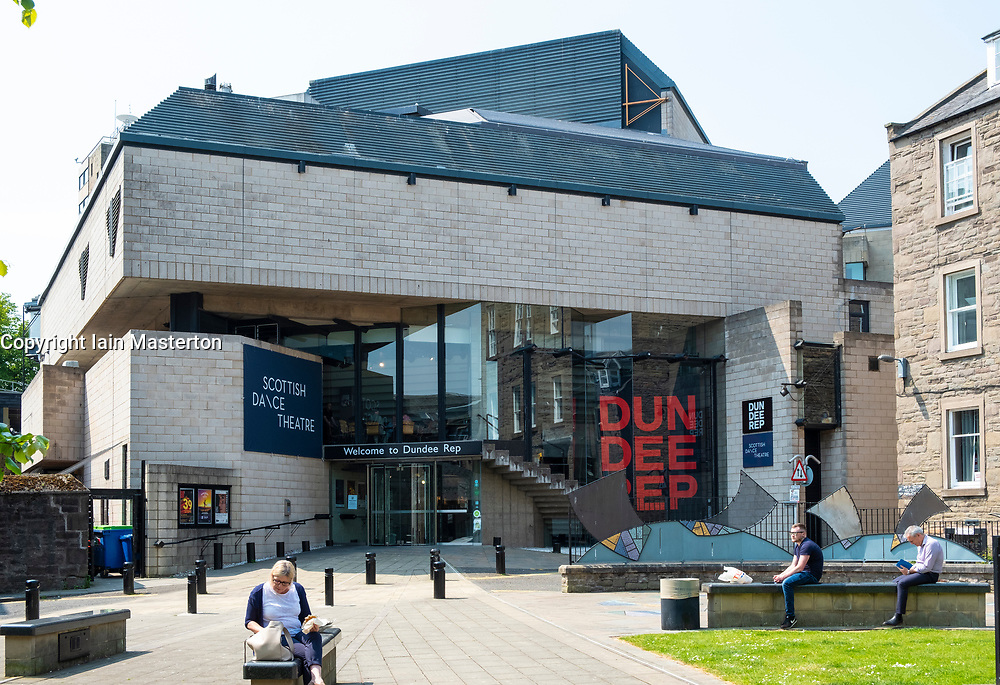 Exterior view of the Dundee Rep theatre in Dundee, Scotland, UK