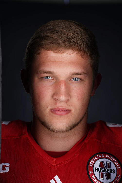 Ben Stille #95 during a portrait session at Memorial Stadium in Lincoln, Neb. on June 6, 2017. Photo by Paul Bellinger, Hail Varsity
