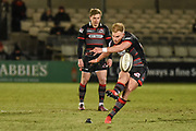 Dougie Fife converts during the Guinness Pro 14 2017_18 match between Edinburgh Rugby and Leinster Rugby at Myreside Stadium, Edinburgh, Scotland on 9 February 2018. Picture by Kevin Murray.