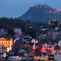 Above Plovdiv at night