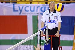 21-02-2016 NED: Bekerfinale Abiant Lycurgus - Landstede Volleybal, Almere<br /> Scheidsrechter, referee
