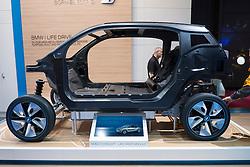 Cut away of BMW i3 Life Drive electric car concept at Paris Motor Show 2012