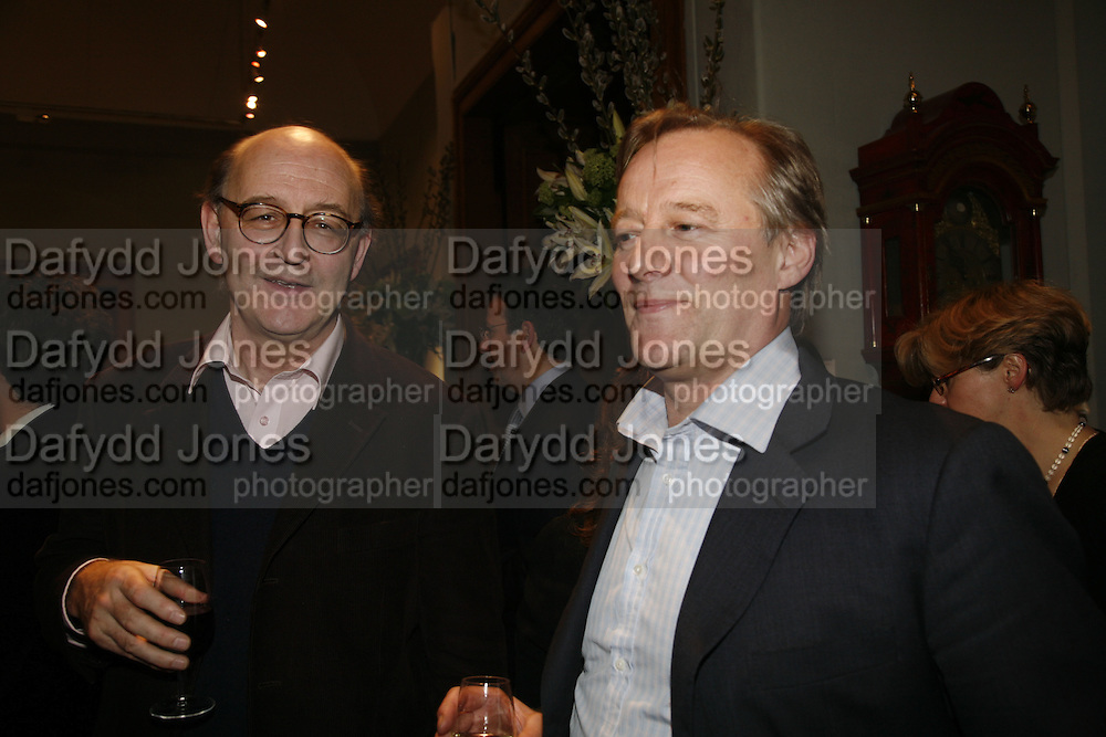Mark Amory and Peter Carewr, Party to celebrate the publication of Too Close To The Sun: The Life and Times of Denys Finch Hatton by Sara Wheeler, Christies. King St. St. James. London. 9 March 2006. ONE TIME USE ONLY - DO NOT ARCHIVE  © Copyright Photograph by Dafydd Jones 66 Stockwell Park Rd. London SW9 0DA Tel 020 7733 0108 www.dafjones.com