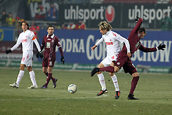 05.02.2012, Fritz Walter Stadium, Kaiserslautern, GER, 1. FBL, 1.FC Kaiserslautern vs 1.FC Koeln, 20. Spieltag, im Bild Sandro WAGNER (1.FC Kaiserslautern) im Zweikampf mit Martin LANIG (1.FC Koeln), Aktion/ Action // during the German Bundesliga Match between 1.FC Kaiserslautern vs 1.FC Koeln at the Fritz Walter Stadium in Kaiserslautern, Germany, 2012/02/05. EXPA Pictures © 2012, PhotoCredit: EXPA/ Eibner/ Alexander Neis..***** ATTENTION - OUT OF GER *****