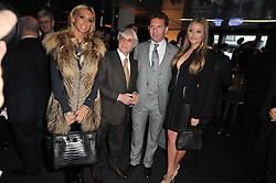 Left to right, PETRA ECCLESTONE, BERNIE ECCLESTONE, NICK CANDY and HOLLY VALANCE at the launch of One Hyde Park, The Residences at Mandarin Oriental, Knightsbridge, London on 19th January 2011.