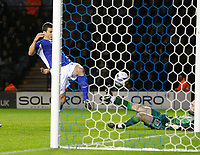 Photo: Steve Bond/Richard Lane Photography. Leicester City v West Bromwich Albion. Coca Cola Championship. 07/11/2009. Bruno Berner gets a consolation goal for Leicester