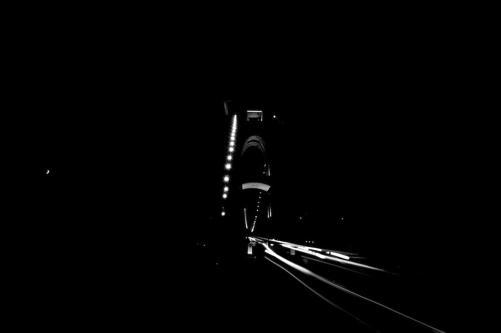 Clifton bridge monochrome