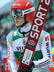 03.02.2017, Heini Klopfer Skiflugschanze, Oberstdorf, GER, FIS Weltcup Ski Sprung, Oberstdorf, Skifliegen, im Bild Stephan Leyhe (GER) // Stephan Leyhe (GER) during mens FIS Ski Flying World Cup at the Heini Klopfer Skiflugschanze in Oberstdorf, Germany on 2017/02/03. EXPA Pictures © 2017, PhotoCredit: EXPA/ Sammy Minkoff<br /> <br /> *****ATTENTION - OUT of GER*****
