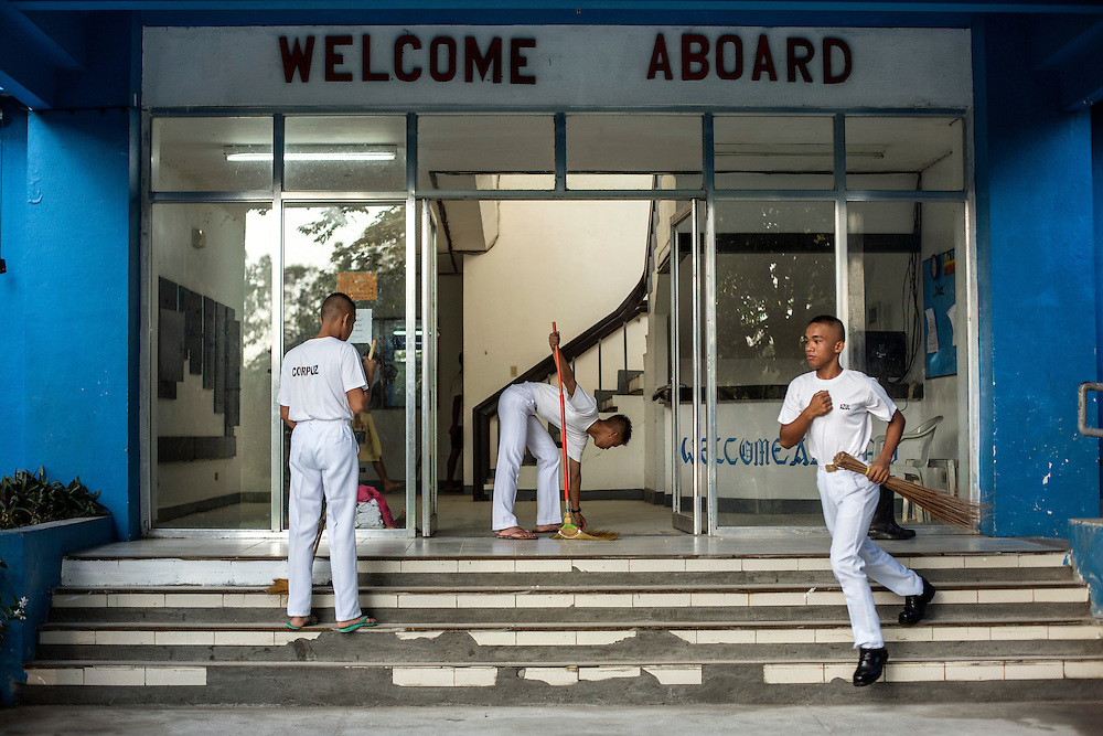 Cadets of the Philippines Marine Academy in Subic Bay