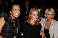 PARIS, FRANCE - JANUARY 24: Roberta Armani, Jessica Chastain and Cameron Diaz attend the Giorgio Armani Prive Haute-Couture 2012 show as part of Paris Fashion Week at the Grand Palais on January 24, 2012 in Paris, France.  (Photo by Tony Barson/WireImage)