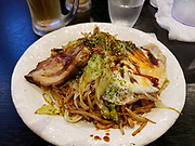Delicious yakisoba dinner.  <br /> Nikko, Tochigi Prefecture, Japan.