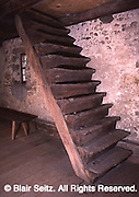Hans Herr House, Lancaster, PA, 1719, original interior stairs