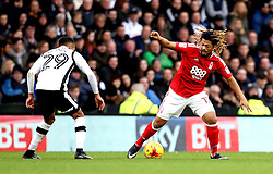 Hildeberto Pereira of Nottingham Forest takes on Marcus Olsson of Derby County - Mandatory by-line: Robbie Stephenson/JMP - 11/12/2016 - FOOTBALL - iPro Stadium - Derby, England - Derby County v Nottingham Forest - Sky Bet Championship