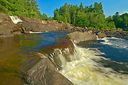 The North Branch of the Muskoka River at Wilson's Falls. Muskoka Country.<br />