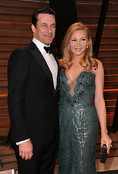 Jon Hamm and Jennifer Westfeldt  arrives at the 2014 Vanity Fair Oscar Party in West Hollywood, California, USA,  Sunday, 2nd March 2014. Picture by Hollywood Bubbles / i-Images<br /> UK ONLY