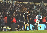 Photo: Tony Oudot.<br /> Tottenham Hotspur v Aston Villa. The FA Barclays Premiership. 01/10/2007.<br /> Younes Kaboul of Tottenham celebrates his last minute equaliser for Spurs
