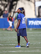 Los Angeles Rams rookie wide receiver Pharoh Cooper (10) looks up as he watches a punt during the Los Angeles Rams 2016 NFL training camp football practice held on Tuesday, Aug. 2, 2016 in Irvine, Calif. (©Paul Anthony Spinelli)