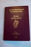 Irish passport, European Union. Passport issued by the Republic of Ireland