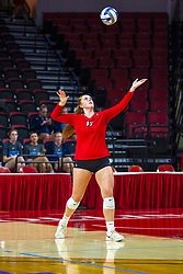 BLOOMINGTON, IL - September 14: Sydney Holt during a college Women's volleyball match between the ISU Redbirds and the University of Central Florida (UCF) Knights on September 14 2019 at Illinois State University in Normal, IL. (Photo by Alan Look)