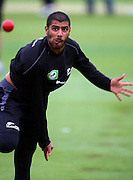 Jeetan Patel bowls.<br /> National Bank Test Match Series, New Zealand v England, Black Caps Nets Practice. Allied Prime Basin Reserve, New Zealand. Tuesday, 11 March 2008. Photo: Dave Lintott/PHOTOSPORT