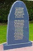 World War II monument to British soldiers, Normandy, France
