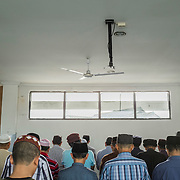 Faithfuls praying at the local Ahmadiyya mosque in Bekasi, West Java, Indonesia