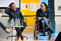 "Javier Gutierrez and paralympic swimmer Teresa Perales during the presentation of the new Javier Fesser short film ""Servicio Tecnico"",in Madrid, March 15, 2016<br /> (ALTERPHOTOS/BorjaB.Hojas)"