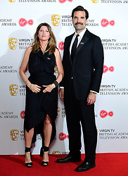 Sharon Horgan and Rob Delaney in the press room at the Virgin TV British Academy Television Awards 2018 held at the Royal Festival Hall, Southbank Centre, London.
