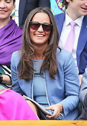 Pippa Middleton  in the  Royal Box on Centre Court on the opening day of Wimbledon 2013<br /> London, Monday, 24th June 2013<br /> Picture by Stephen Lock / i-Images