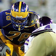 Delaware freshmen offensive linemen (#78) Erle Ladson see's some playing time in fourth quarter as delaware leads West chester 31-0 in the fourth quarter. ...