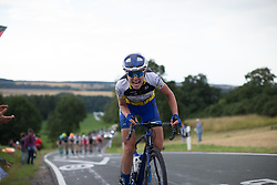 Tayler Wiles (USA) of UnitedHealthcare Cycling Team digs deep up on the  Hankaberg in the third lap of Stage 2 of the Lotto Thuringen Ladies Tour - a 102.9 km road race, starting and finishing in Dortendorf on July 14, 2017, in Thuringen, Germany. (Photo by Balint Hamvas/Velofocus.com)