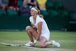 LONDON, ENGLAND - Thursday, June 28, 2012: Petra Kvitova (CZE) during the Ladies' Singles 2nd Round match on day four of the Wimbledon Lawn Tennis Championships at the All England Lawn Tennis and Croquet Club. (Pic by David Rawcliffe/Propaganda)
