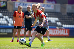 SWANSEA, WALES - Wednesday, June 6, 2018: Wales' Carrie Jones during a training session at the Liberty Stadium ahead of the FIFA Women's World Cup 2019 Qualifying Round Group 1 match against Bosnia and Herzegovina. (Pic by David Rawcliffe/Propaganda)
