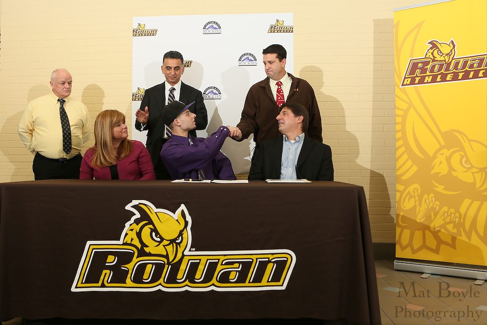 Marc Magliaro contract signing at Rowan University in Glassboro, NJ on Thursday January 24, 2013. (photo / Mat Boyle).