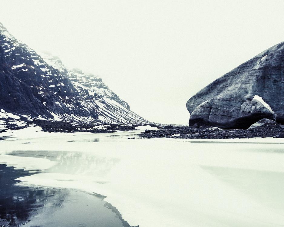 Retreating ice, Breiðamerkurjökull, Iceland