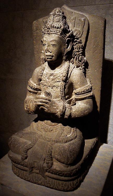 Funerary statue from Indonesia (Java). Hindu religion XV century