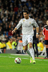 01.03.2015, Estadio Santiago Bernabeu, Madrid, ESP, Primera Division, Real Madrid vs FC Villarreal, 25. Runde, im Bild Real Madrid&acute;s Cristiano Ronaldo // during the Spanish Primera Division 25th round match between Real Madrid CF and Villarreal at the Estadio Santiago Bernabeu in Madrid, Spain on 2015/03/01. EXPA Pictures &copy; 2015, PhotoCredit: EXPA/ Alterphotos/ Luis Fernandez<br /> <br /> *****ATTENTION - OUT of ESP, SUI*****