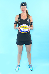 07.06.2016, Hamburg, GER, DVV Beachvolleyball, Fototermin, Nationalmannschaft, Olympische Spiele, Rio 2016, im Bild Katrin Holtwick (GER) // Katrin Holtwick of Germany during photocall of German Beach Volleyball team of German Cycling Federation for the Olympic games, Rio 2016. Hamburg, Germany on 2016/06/07. EXPA Pictures © 2016, PhotoCredit: EXPA/ Eibner-Pressefoto<br /> <br /> *****ATTENTION - OUT of GER*****