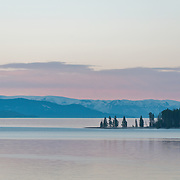 Yellowstone Lake in Yellowstone National Park, Wyoming.  Photo by William Byrne Drumm.