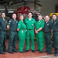 SCAA Paramedics Training Course...15.09.14<br /> Pictured from left, Craig Henderson, Craig McDonald, Julia Barnes, Peter Craigmile, Chris Darlington, John Salmond and Philip Campbell.<br /> Picture by Graeme Hart.<br /> Copyright Perthshire Picture Agency<br /> Tel: 01738 623350  Mobile: 07990 594431