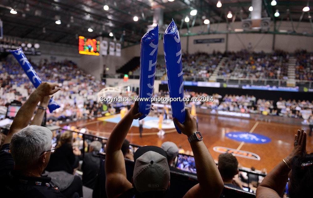 General view of hte NSEC. SkyCity Breakers v Sydney Kings 2013/14 iinet ANBL Basketball Season. Auckland. New Zealand. Thursday 13 March 2014. Photo: Andrew Cornaga / www.photosport.co.nz