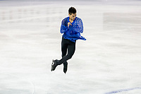 KELOWNA, BC - OCTOBER 26: American figure skater Camden Pulkinen competes during the men's long program / free skate of Skate Canada International held at Prospera Place on October 26, 2019 in Kelowna, Canada. (Photo by Marissa Baecker/Shoot the Breeze)