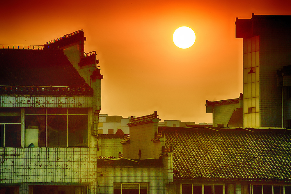 Urban Sunset at Anhui Province of China
