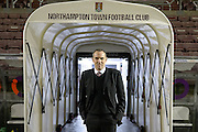 Cobblers Chairman Kelvin Thomas during the Sky Bet League 2 match between Northampton Town and AFC Wimbledon at Sixfields Stadium, Northampton, England on 1 March 2016. Photo by Dennis Goodwin.