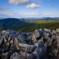 The view north from Blackrock Summit near sunset, Shenandoah National Park, VA