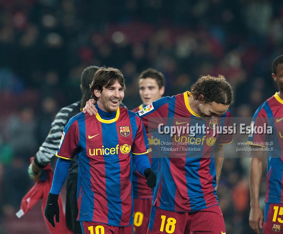Lionel Messi. FC Barcelona - Almeria. Copa del Rey. Barcelona, Camp Nou. 26.1.2011. Photo: Jussi Eskola